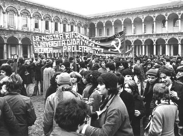 Università Statale di Milano, febbraio 1977 (Archivio Rcs)