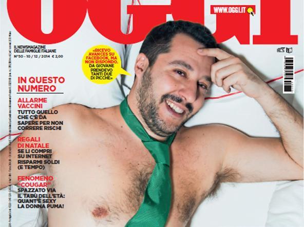 Il leader della Lega Matteo Salvini sulla copertina del settimanale «Oggi»