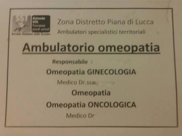 La foto pubblicata su Twitter dal medico blogger Salvo Di Grazia