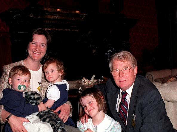 Reginald e Maggie Green nel con i loro tre figli, fratelli di Nicholas