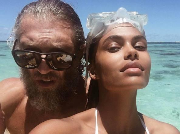 Vincent Cassel e Tina Kunakey Di Vita (Instagram @tinakunakey)