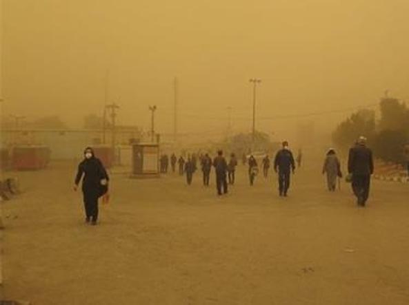Tempesta di sabbia a Zabol (Iran)