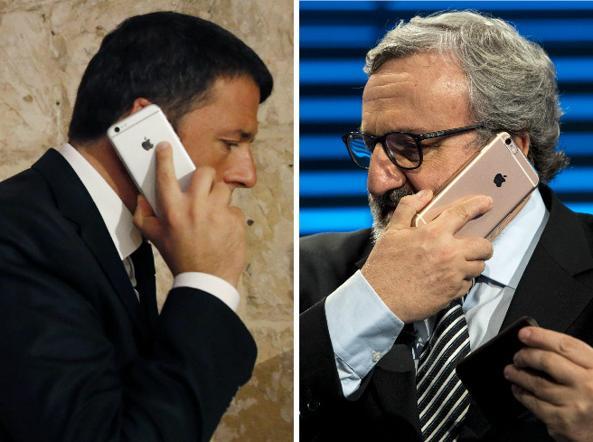 Il segretario del Pd, Matteo Renzi, e il governatore della Puglia, Michele Emiliano