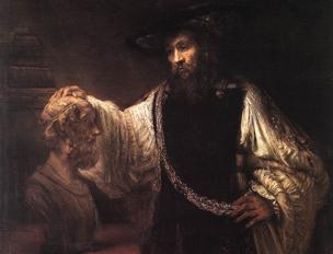 Rembrandt, «Aristotele con un busto di Omero» (1653, olio su tela)