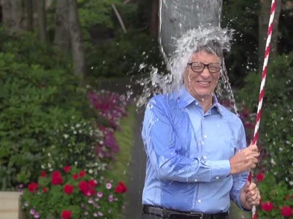 Ice Bucket Challenge di Bill Gates