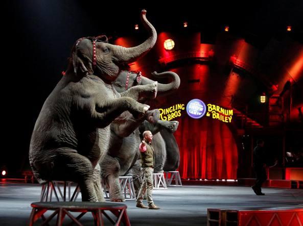 IL circo Barnum statunitense che ha annunciato la chiusura (Reuters)