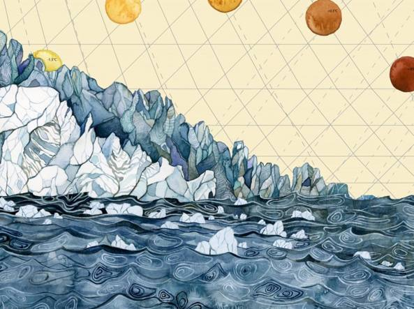 Jill Pelto, Climate change data scientific, 2015, acrilico su tela