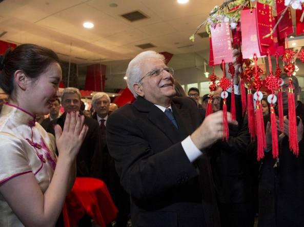 Sergio Mattarella durante il suo viaggio in Cina (Ansa)