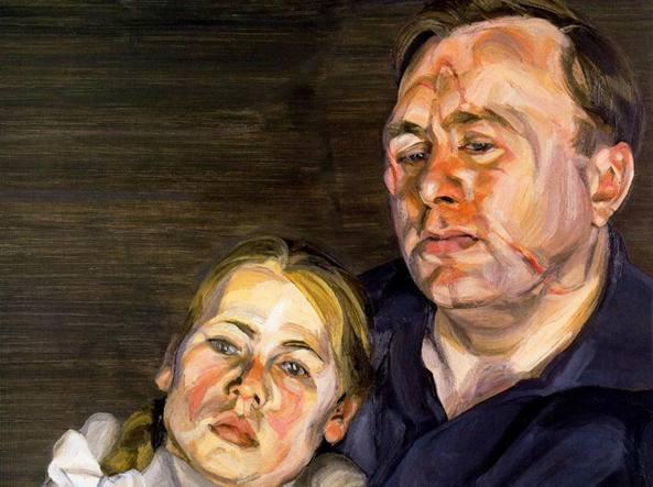 Lucian Freud (Berlino, 1922 - Londra, 2011), Padre e figlia (1964, olio su tela), collezione privata