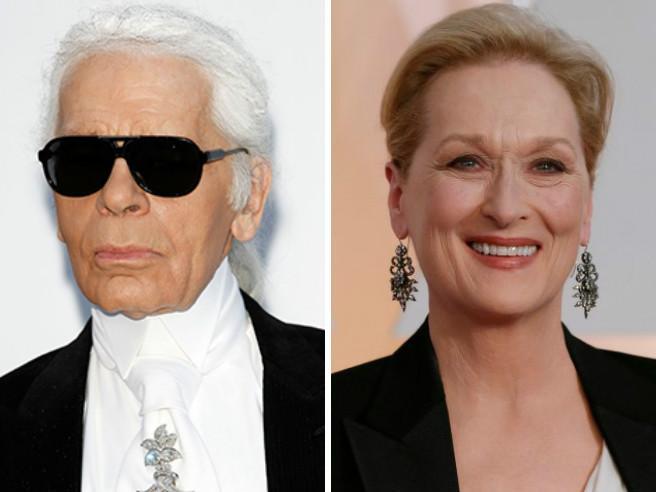Oscar 2017, Karl Lagerfeld contro Meryl Streep: «Ha rifiutato il mio abito perché non la paghiamo»