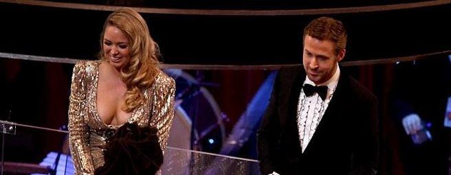 Ryan Gosling e la sorella Mandi agli Academy Awards (GettyImages)