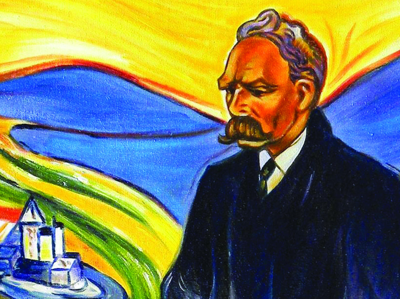Un particolare del ritratto del filosofo tedesco Friedrich Nietzsche (1844-1900), realizzato nel 1906 dal pittore norvegese Edvard Munch (1863-1944)
