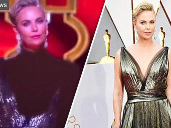 Troppo scollata. La censura iraniana copre Charlize Theron agli Oscar