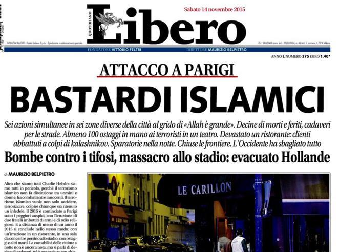 Belpietro rinviato a giudizio per il titolo «Bastardi Islamici» di Libero
