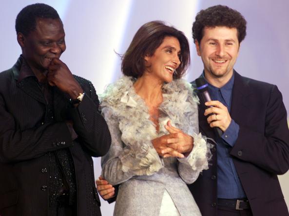Anna Marchesini con Fabio Fazio (Ap)
