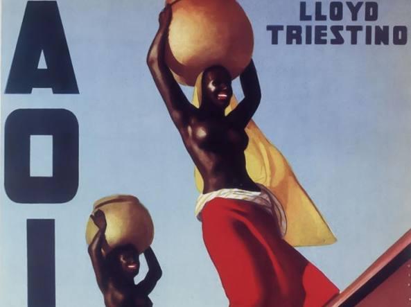 Un manifesto di Gino Boccasile (1901-1952) sull'Africa Orientale italiana per il Lloyd Triestino