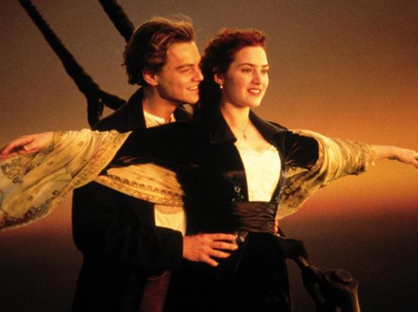 DiCaprio e Winslet nel film di James Cameron nel 1997