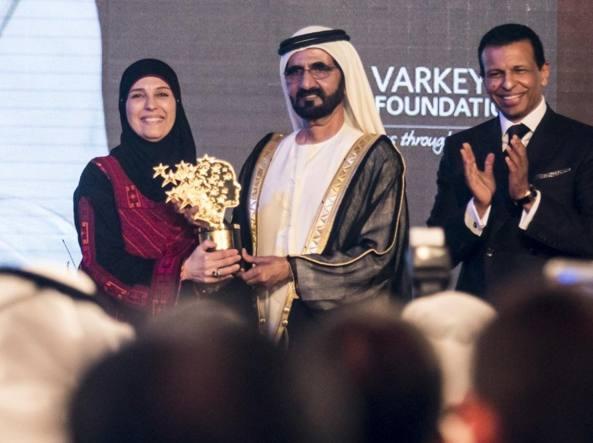 La palestinese Hanan Al Hroub ha vinto il Global Teacher Prize lo scorso anno