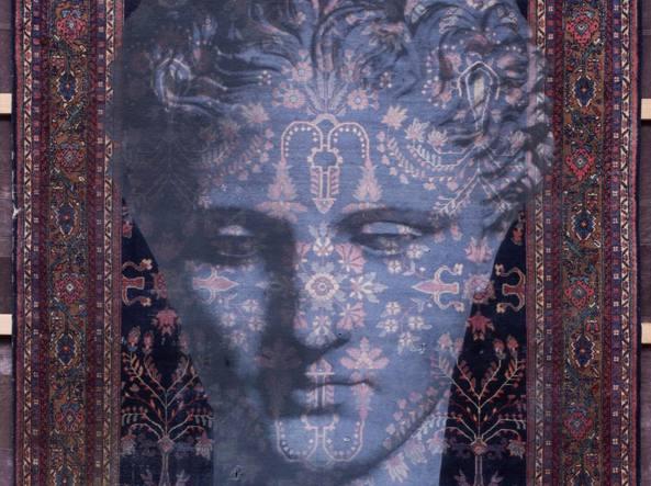 Particolare di «Persepoli», l'opera di Luca Pignatelli rimossa dal Tefaf