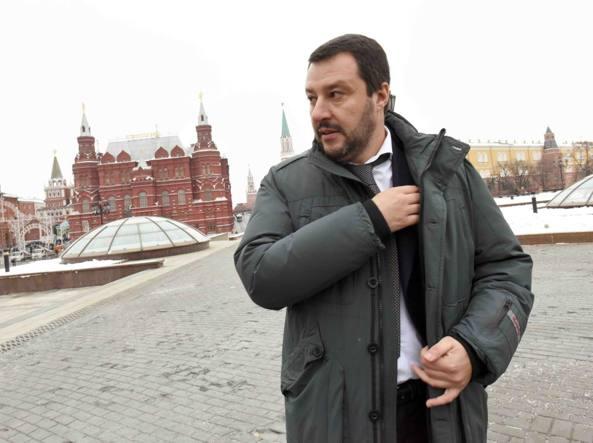 Matteo Salvini a Mosca (LaPresse)
