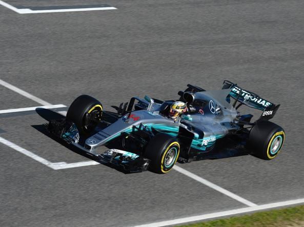 Favorita La Mercedes W08 guidata da Lewis Hamilton. Il campione inglese vuole il quarto Mondiale, il compagno di squadra è Valtteri Bottas (Studio Colombo)