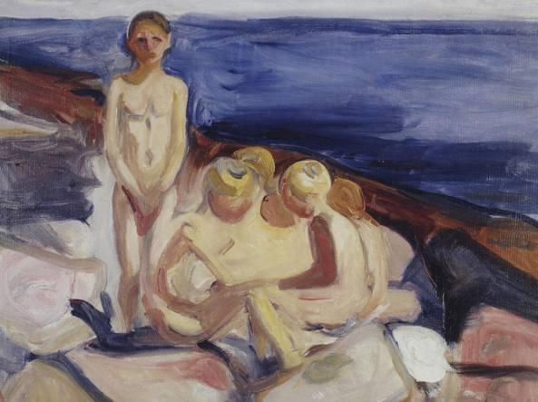 «Bagnanti» (1904–1905), un dipinto dell'artista norvegese Edvard Munch (1863-1944)