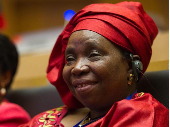 Nkosazana Dlamini-Zuma, presidente della Commissione dell'Unione africana (Epa)