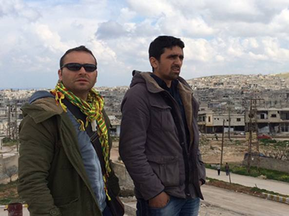 Massimiliano Voza, a sinistra