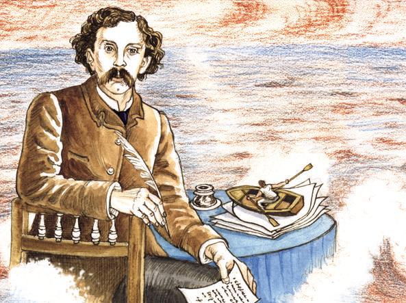 Mallarmé in un'illustrazione di Antonio Monteverdi (da «la Lettura» #277)