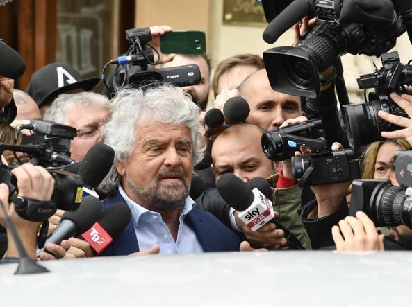 Beppe Grillo lunedì a Roma (Lapresse)