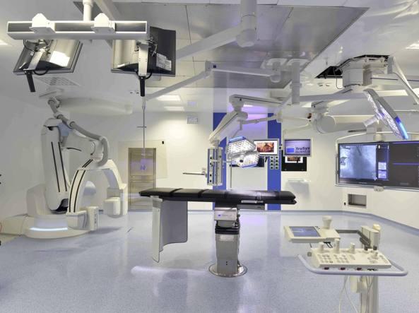 La sala operatoria ibrida di cardiologia e cardiochirurgia del Policlinico Gemelli di Roma