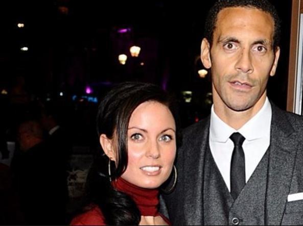 Rio Ferdinand con la moglie Rebecca Ellison