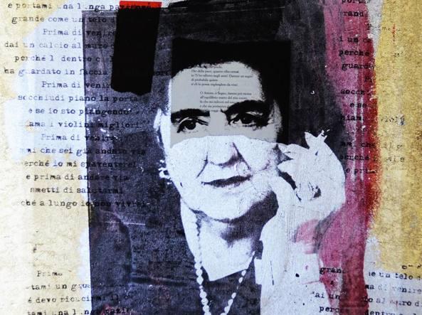 La poetessa Alda Merini in un'opera di Giuliano Grittini