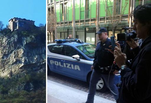 Il dirupo da dove si è lanciato il padre-omicida e il palazzo dove sono stati uccisi i due bimbi