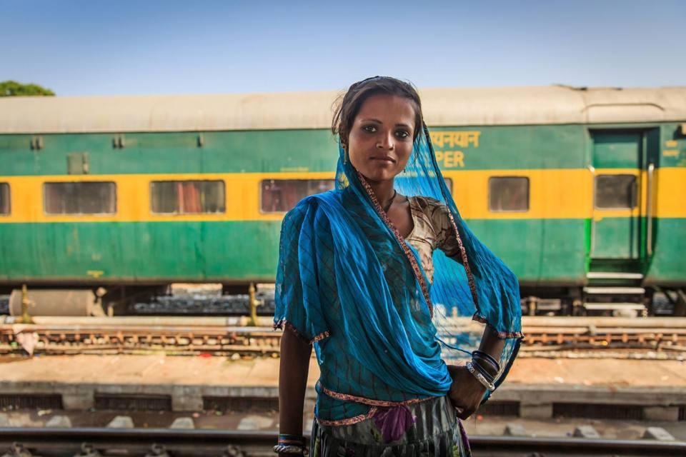 Bellezza indiana alla stazione