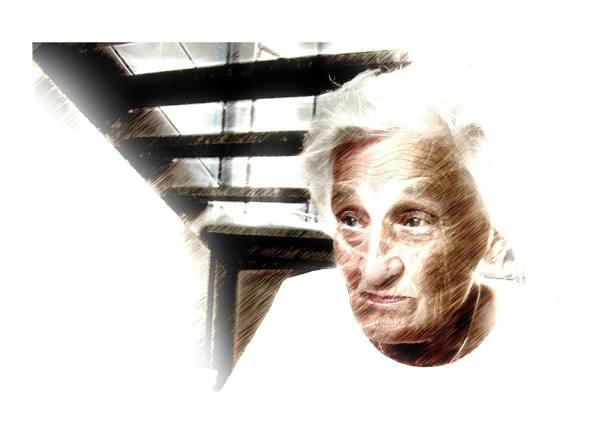 illustrazione di una donna anziana