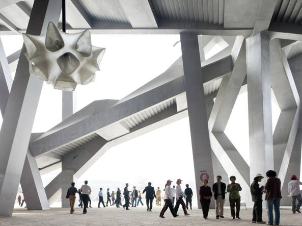 Iwan Baan, «Pechino, National Stadium» (2008, stampa fotografica a colori)