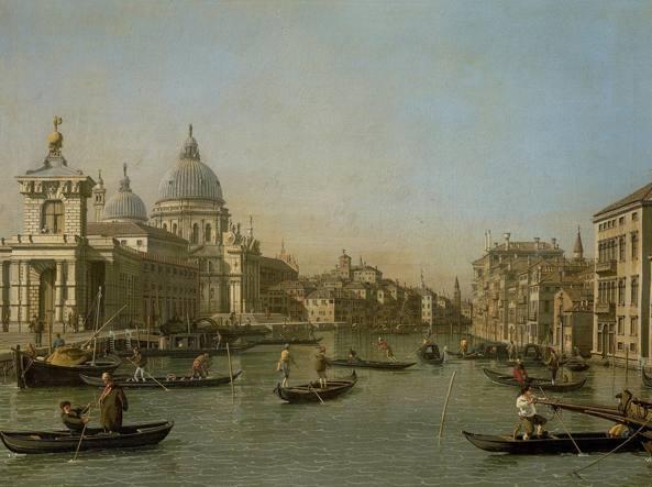 «La punta della Dogana a Venezia», opera del pittore Canaletto