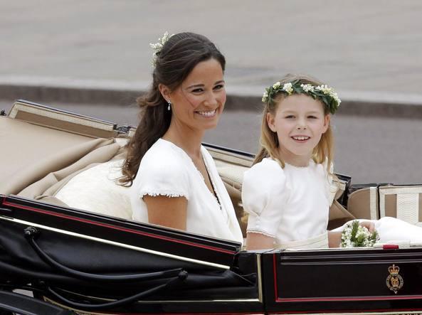 Pippa Middledon al matrimonio della sorella Kate (Epa)