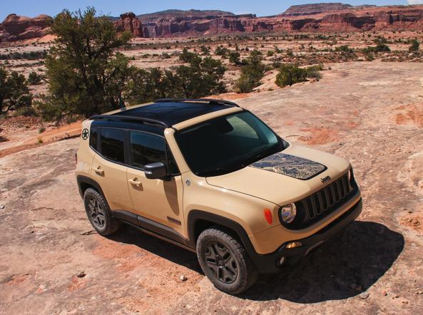 La Jeep Renegade in versione Desert Hawk