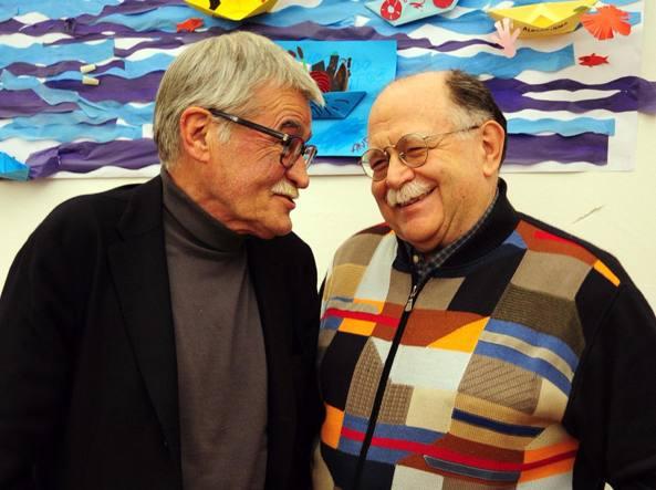 Marco Santagata (a sinistra) e Walter Siti (a destra) ritratti da Diego Poluzzi