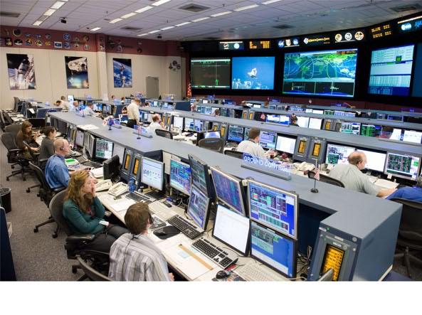 Un Mission Command Center della Nasa. Qui la tecnologia è davvero tanta