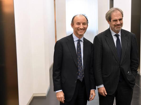 Fabio Gallia  e, a destra, Claudio Costamagna (Cdp)