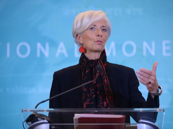 Christine Lagarde, direttrice del Fondo monetario
