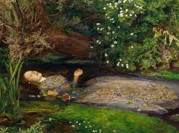 John Everett Millais, Ophelia, 1851–1852, alla Tate Britain di Londra