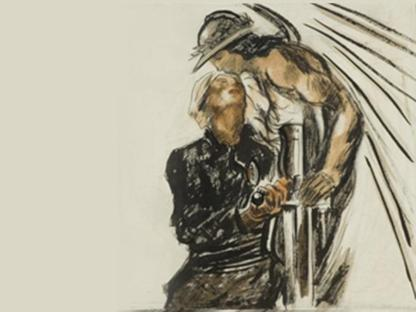 Mario Sironi, «La vittoria col suo salvatore»
