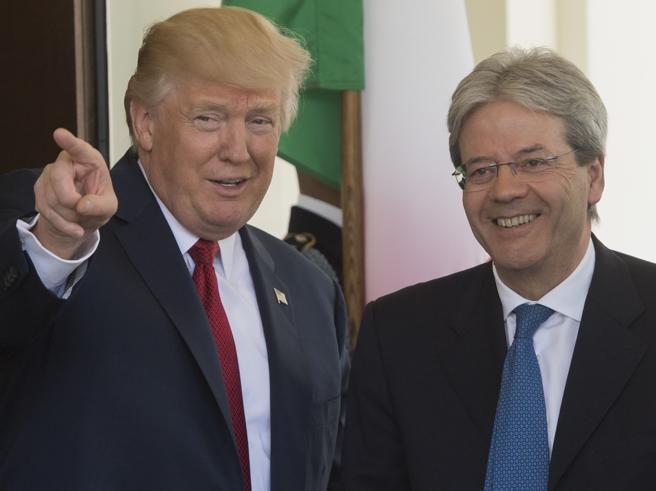 Gentiloni alla Casa Bianca: «Donald, è un onore per me, ti aspetto al G7 in Sicilia»