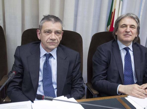 Carlo Verdelli (a sinistra) con Antonio Campo Dall'Orto (LaPresse)