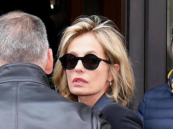 Isabella Ferrari al funerale di Boncompagni (Ansa)