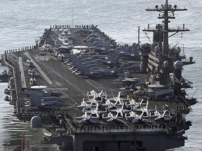La Corea del Nord agli Usa: «Pronti ad affondare la vostra portaerei» Foto | Video